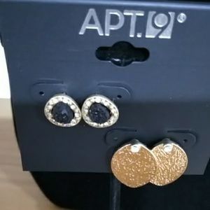 *3 for $10* NWT APT. 9 EARRINGS - BLACK AND GOLD